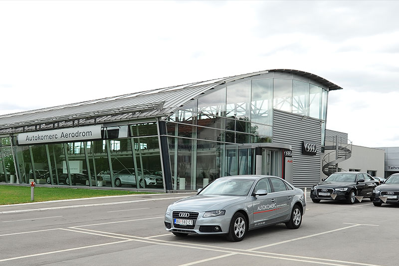 The New Audi showroom open, one of the biggest in Europe