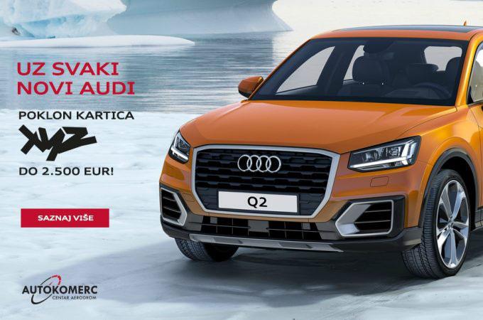Novi Audi sa sjajnim poklonom čeka Vas u Autokomerc Centru Aerodrom
