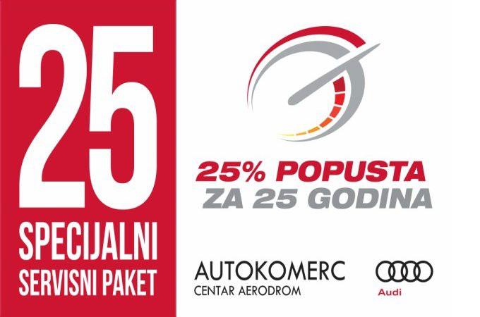 Za 25 godina – 25% POPUSTA!